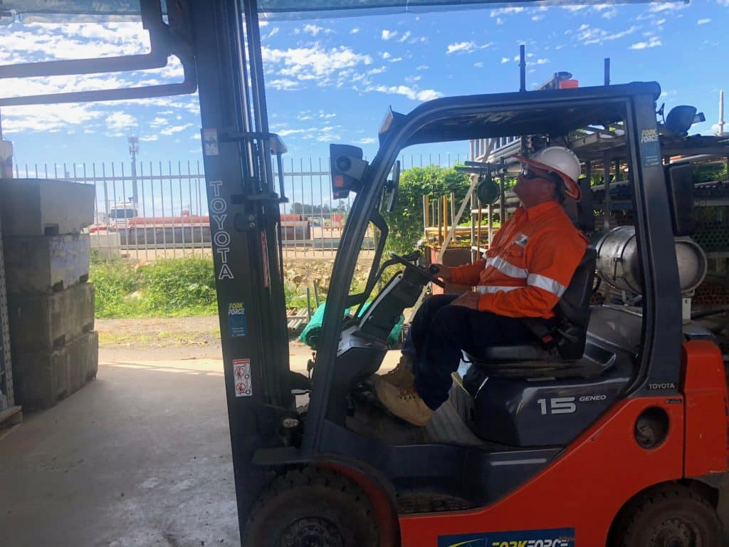 Forklift operations course